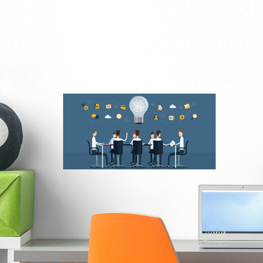 vector business  teamwork   meeting and  brainstorm Wall Mural