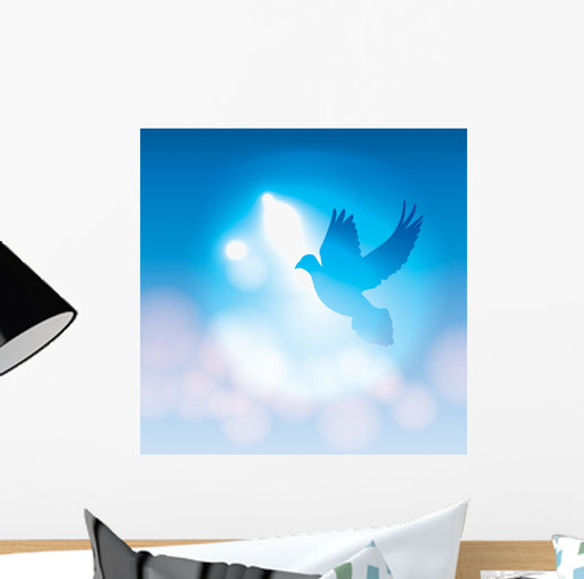 Illustrated Dove Silhouette and Wall Mural – WallMonkeys com