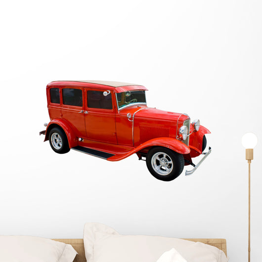 red hotrod Wall Decal