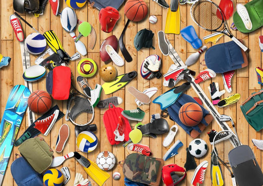 Sports Equipment Has Fallen Wall Mural