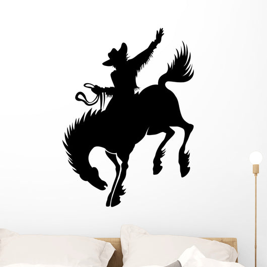 Rodeo Cowboy Silhouette Wall Decal