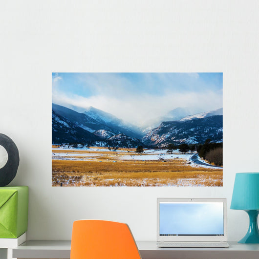 Mountains Winter Scenery Wall Decal