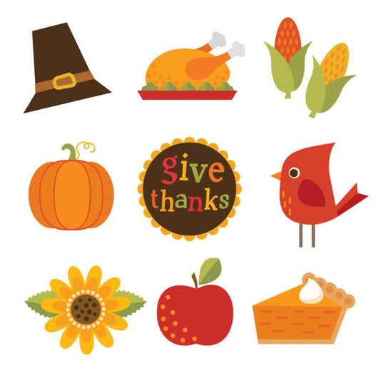Cute Autumn Fall Thanksgiving Wall Decal Sticker Set