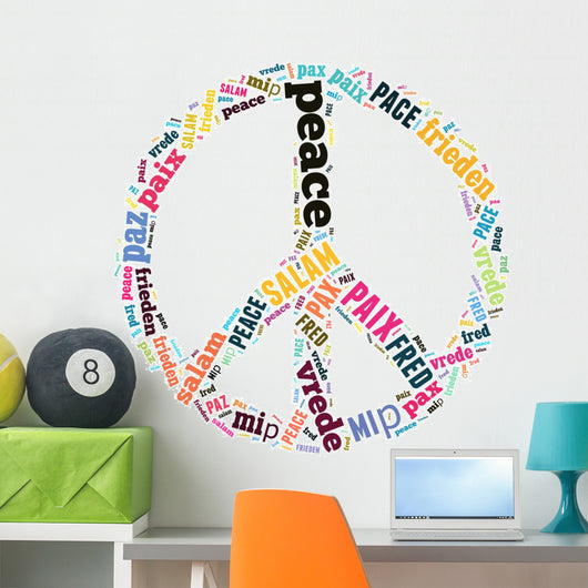 Peace Sign Wall Decal