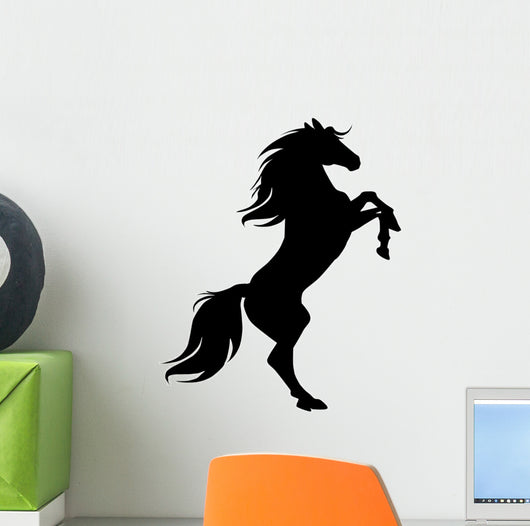 Rearing Horse Black Silhouette Wall Decal