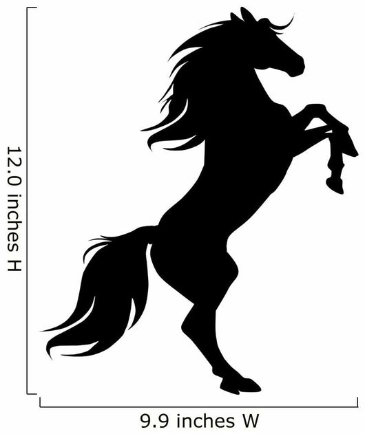 Rearing Horse Black Silhouette Wall Decal Wallmonkeys Com