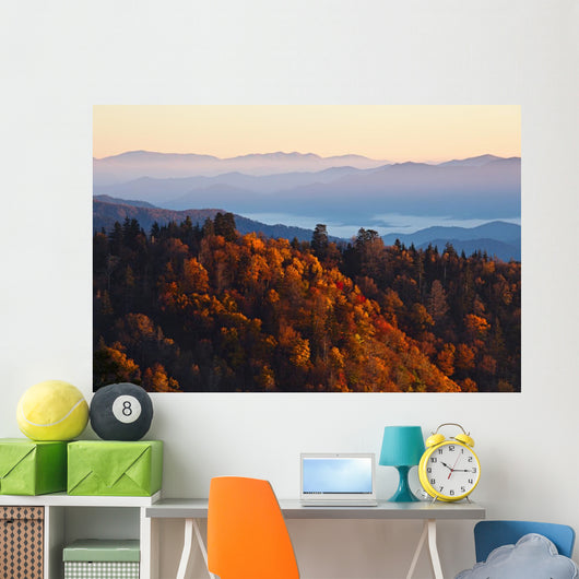 Sunrise Smoky Mountains Wall Decal