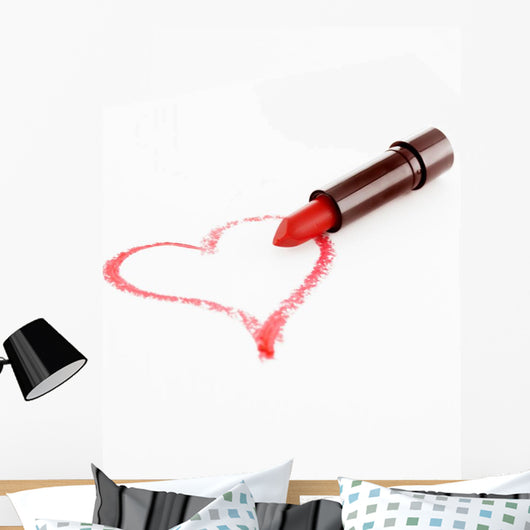 Lipstick Heart Wall Decal