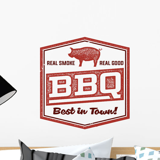 Vintage BBQ Restaurant Sign Wall Decal Design 1