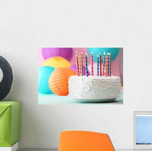 Birthday Cake with Candles Wall Decal