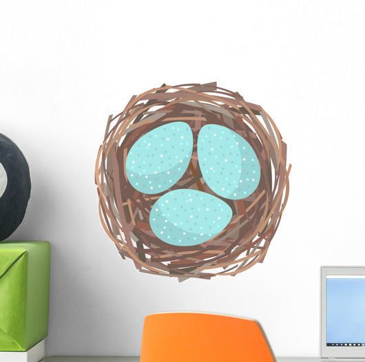 Nest with Eggs Wall Decal