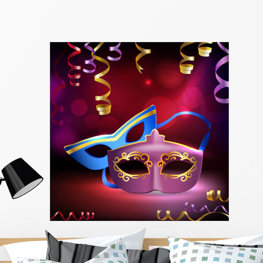 Carnival Masks Wall Decal