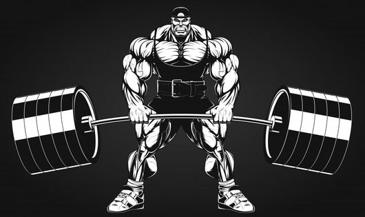 Bodybuilder with Barbell Wall Decal