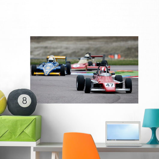 Classic Racing Cars Wall Decal