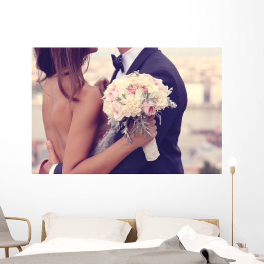 Detail Bride and Groom Wall Decal
