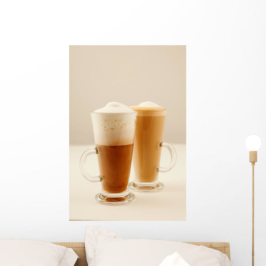 Two Tall Glass Coffee Wall Decal