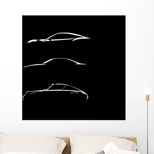 Car Silhouettes Wall Decal