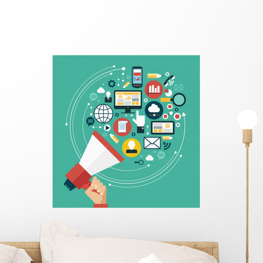 Digital Marketing Concept Wall Decal