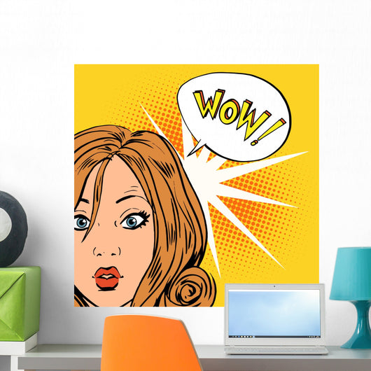 Wow Surprise Girls Pop Wall Decal