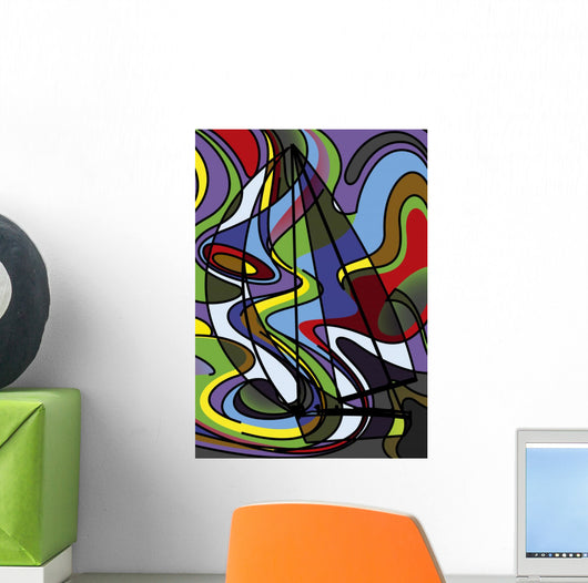 Voilier Psychedelique Wall Decal