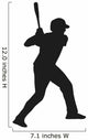 Baseball Player Vector Silhouette Wall Decal