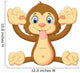 Cartoon Monkey Making Face Wall Decal
