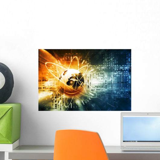 Global Network Connection Wall Decal