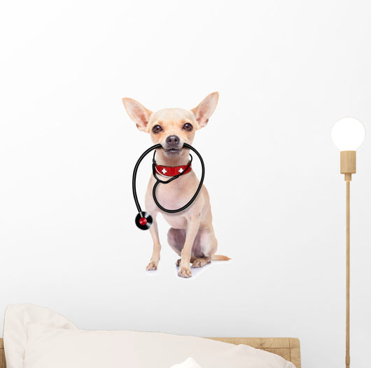 Medical Doctor Dog Wall Decal Design 1