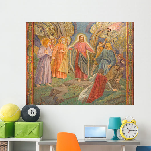 Jerusalem Mosaic Arresting Jesus Wall Decal