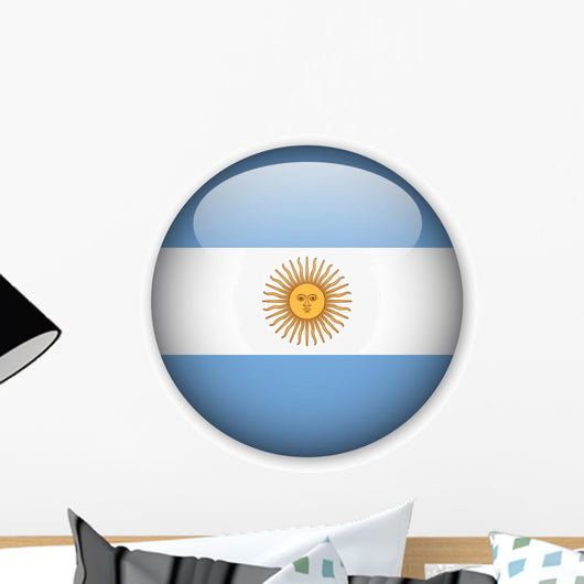 Argentinian Flag Button Wall Decal