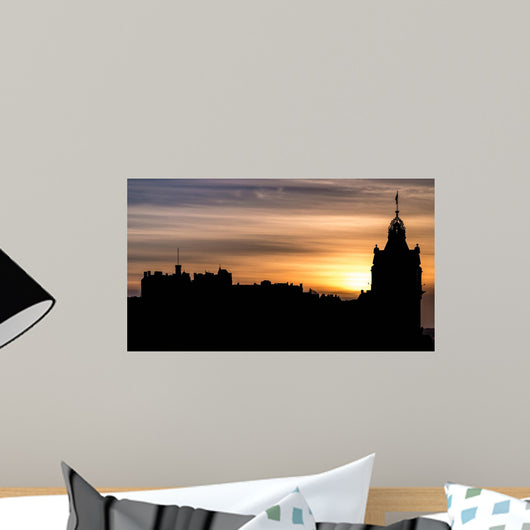 Edinburgh Silhouette Sunset Wall Decal