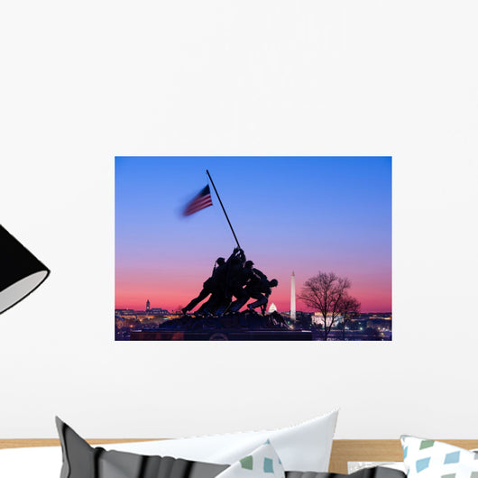 Iwojima Memorial Washington Dc Wall Decal