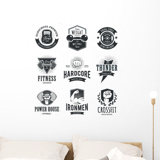 Retro Fitness Wall Stickers Wall Decal