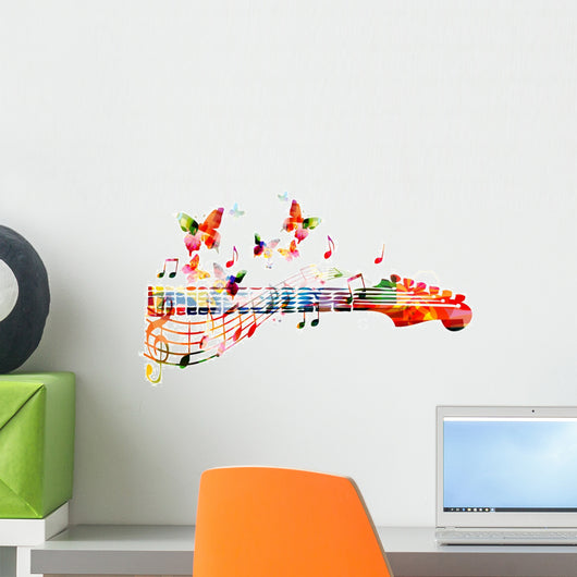 Colorful Guitar Fingerboard Wall Decal
