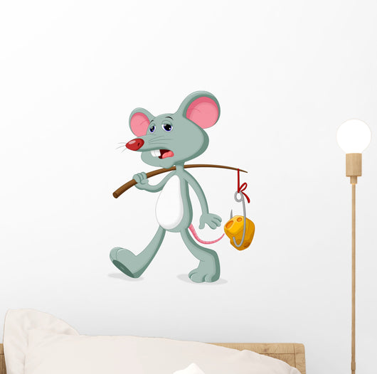 Mice and Slice Cheese Wall Decal Design 1