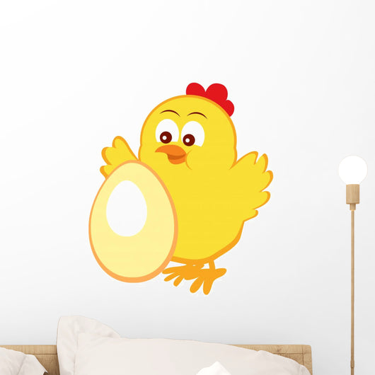 Emblem with Cute Chicken Wall Decal