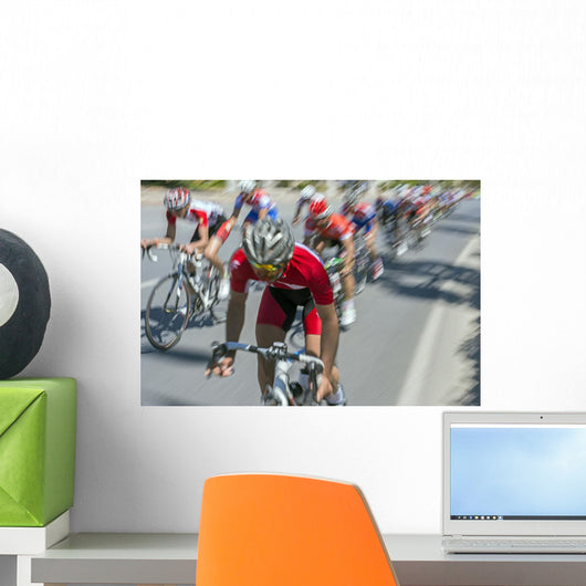 Cycling Race Wall Decal