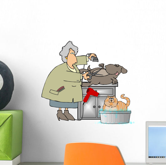 Pet Groomer Wall Decal