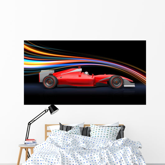 Formula Race Red Car Wall Decal