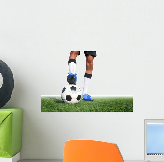 Soccer Ball with Feet Wall Decal