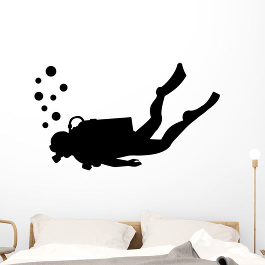 Scuba Diving Silhouette Wall Decal