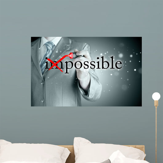 Business Impossible Turns Possible Wall Decal