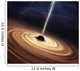Black Hole Wall Decal Design 1