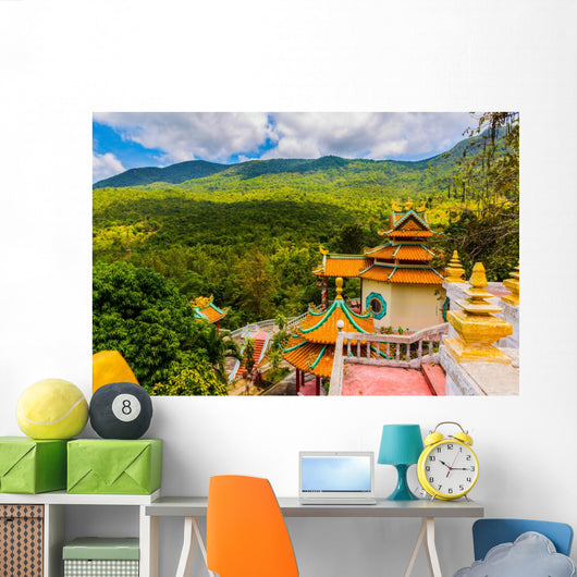 Chinese Temple among Beautiful Wall Decal