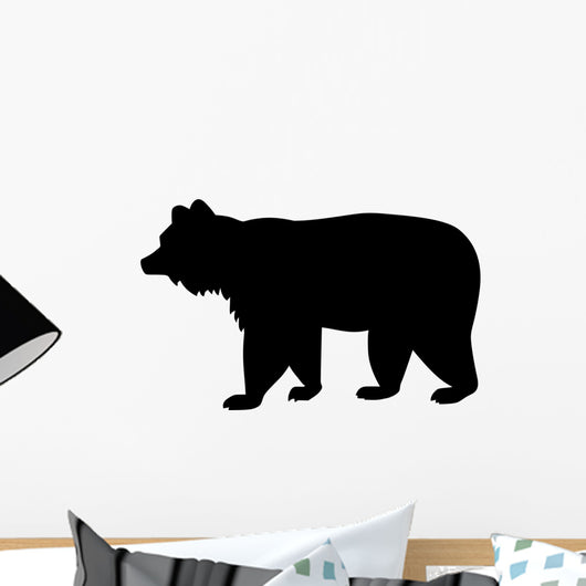 Brown Bear Silhouette Wall Decal