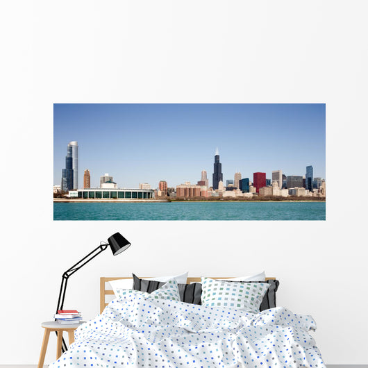 Chicago Skyline Seen from Wall Decal