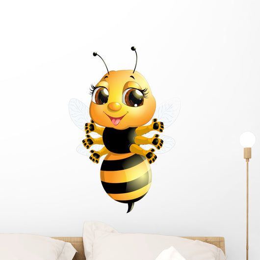 Bee White Wall Decal Design 2