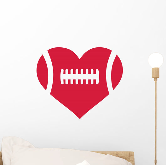 American Football Heart Wall Decal