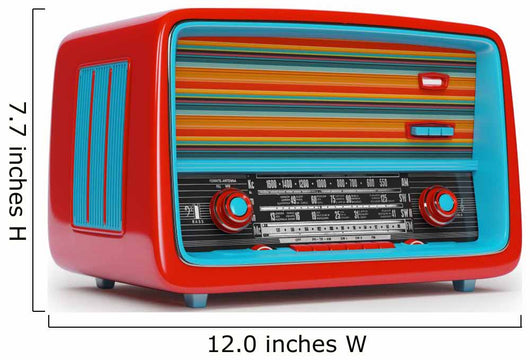 Vintage Radio Wall Decal Wallmonkeys Com