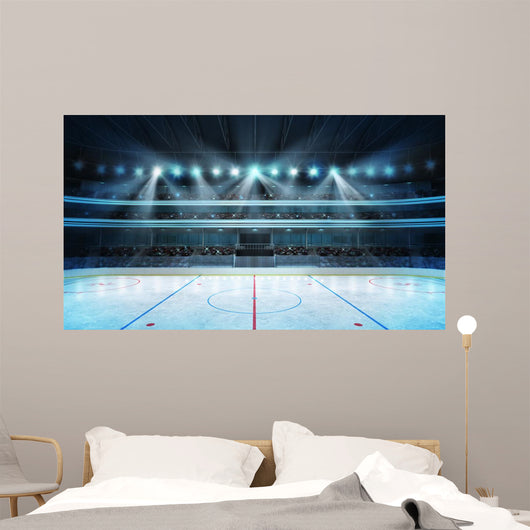 Hockey Stadium with Fans Wall Decal